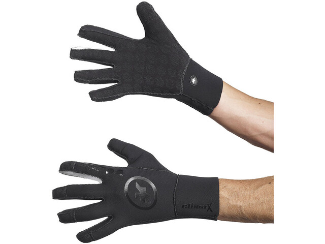 ASSOS rainGloves_evo7, black volkanga
